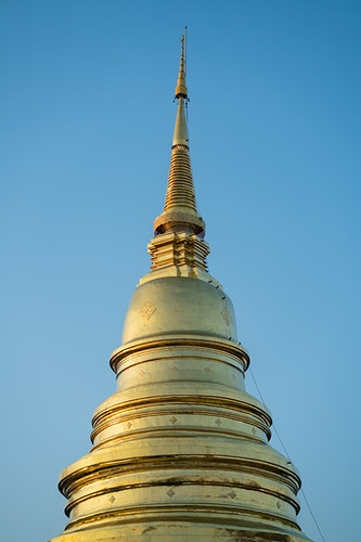 A temple top of a buddhist temple in Chiang Mai, Thailand - Daniel John Photography