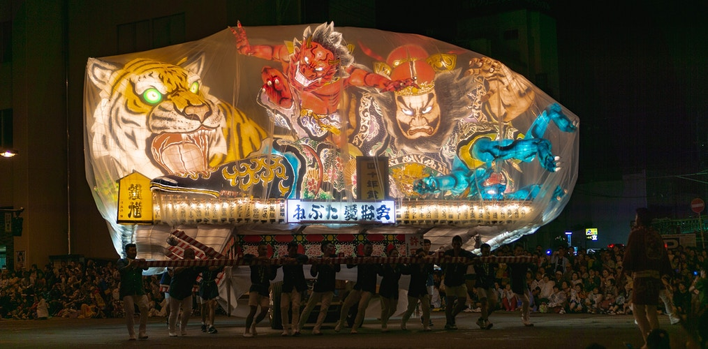 A float at Nebuta Matsori - one of the three Great Festivals - Aomori, Japan - Daniel John Photography