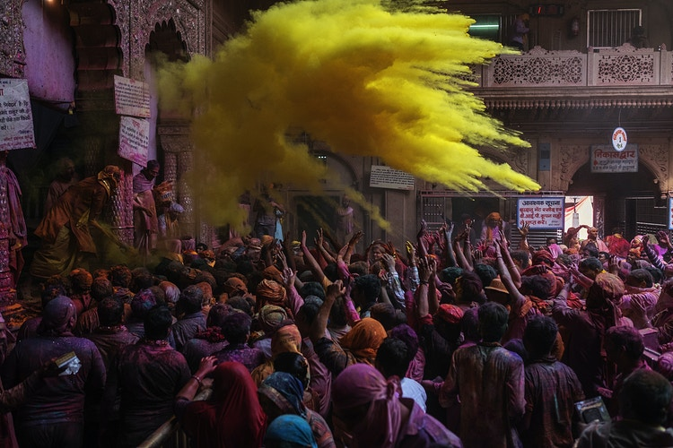 Holi Festival In Mathura Region India 2017 - David Julià
