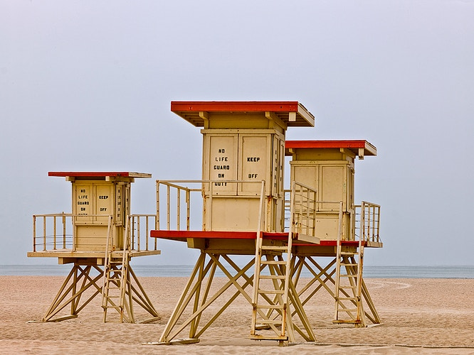 Lifeguard Shacks - Dennis O'Reilly