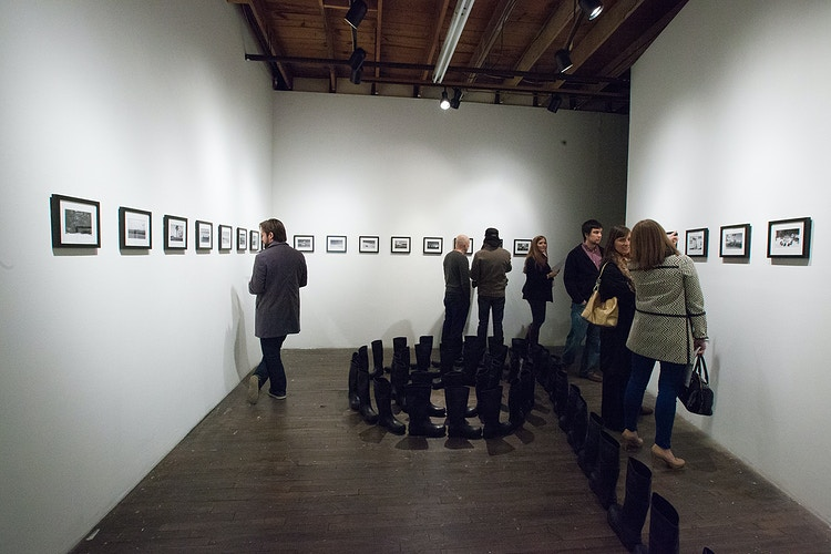 installation view @500X Gallery - Diane Durant