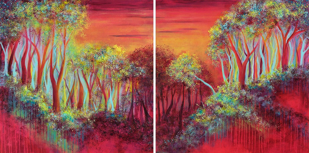 Rose Light [Diptych] - Di Cox Gallery