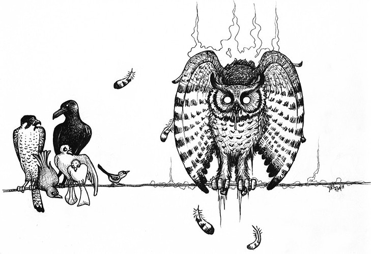 Owlpocalypse: Pestilence - Donelle Lacy Illustration