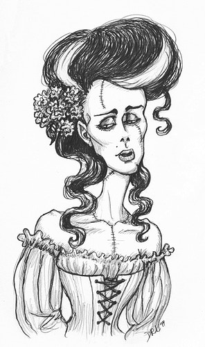 Victorian Bride of Frankenstein - Donelle Lacy Illustration