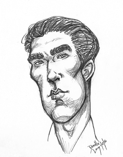 Sherlock Caricature - Donelle Lacy Illustration