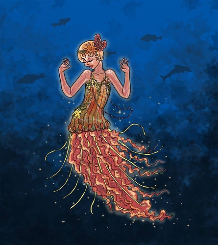 Flapper Jellymaid - Donelle Lacy Illustration