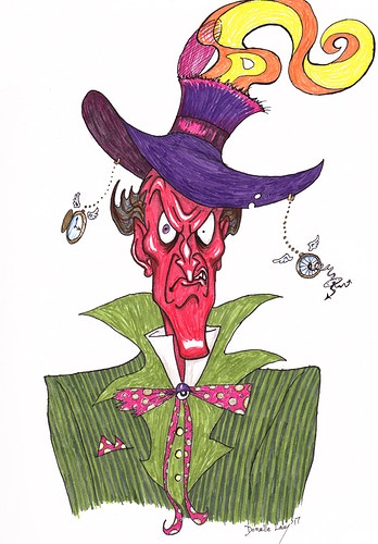 Furious Hatter - Donelle Lacy Illustration