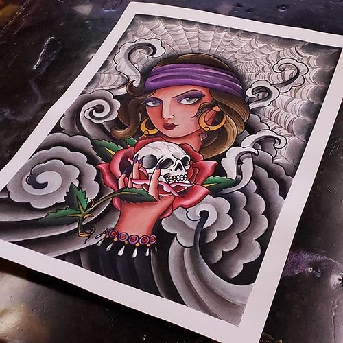 Paintings - Tattoos by Douglas Lamb