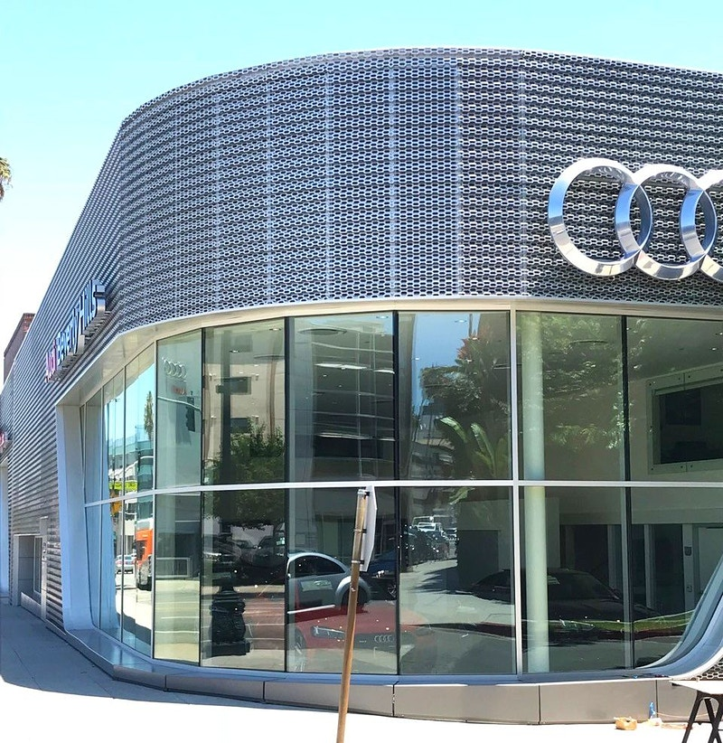 FLETCHER JONES AUDI - Beverly Hills - Architectural Sheet Metal | Emerald Metal Products