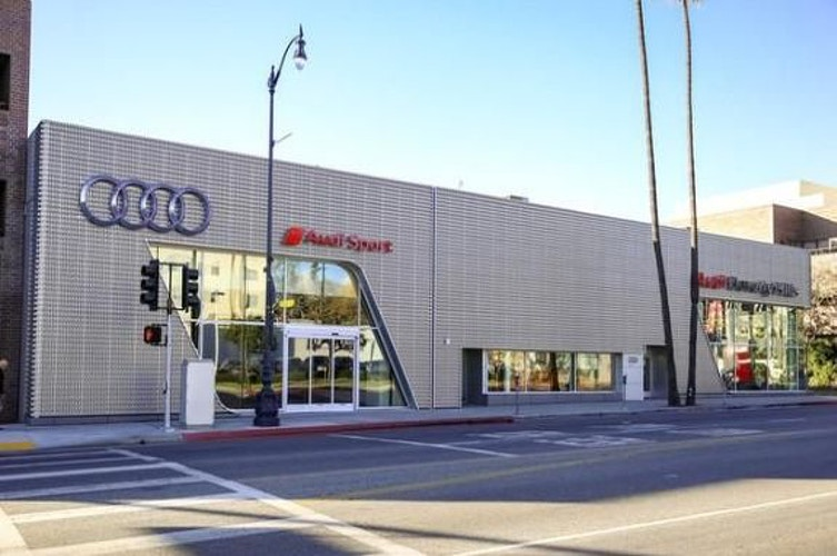 FLETCHER JONES AUDI SERVICE CENTER - Beverly Hills - Architectural Sheet Metal | Emerald Metal Products