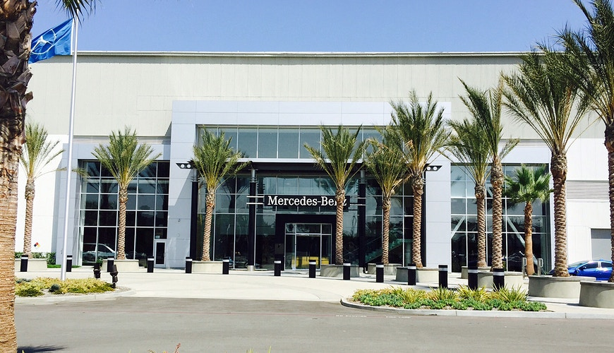 MERCEDES BENZ USA WEST COAST CAMPUS - Long Beach - Architectural Sheet Metal | Emerald Metal Products