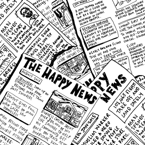 The Happy Newspaper - Emily Coxhead