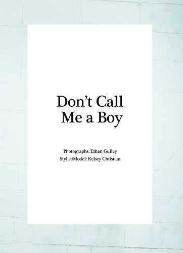 Dont Call Me A Boy Pond Magazine - Ethan Gulley | Los Angeles Photographer