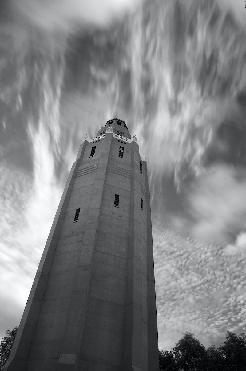 Clouded Tower - Ethan Whitecotton Photography