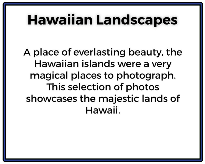 Hawaiian Landscapes - Ethan Whitecotton Photography