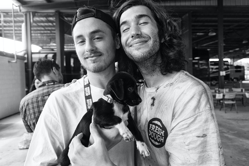 Phil and Dan + Puppies - Evan Dell Photography