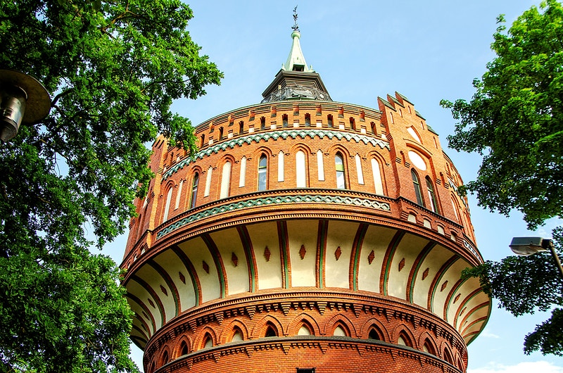 Old water tower in Bydgoszcz Poland - Elle Lens