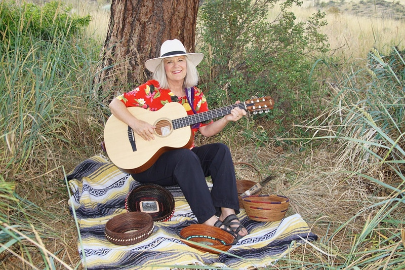Lauralee Northcott Singer Writer And Basket Maker In Methow - gail marion photography