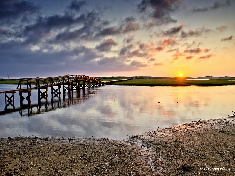 Sunrise, Sandwich Boardwalk - Gan Barber Fine Art Photographs