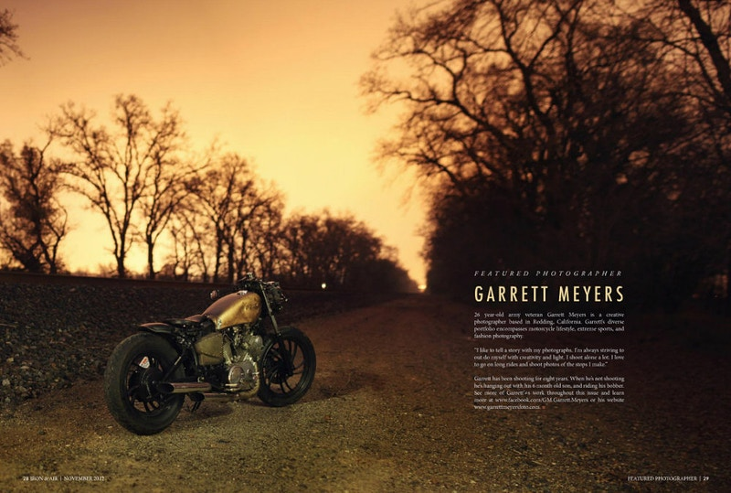 featured photographer in Iron&Air magazine - Garrett Meyers: Photographer