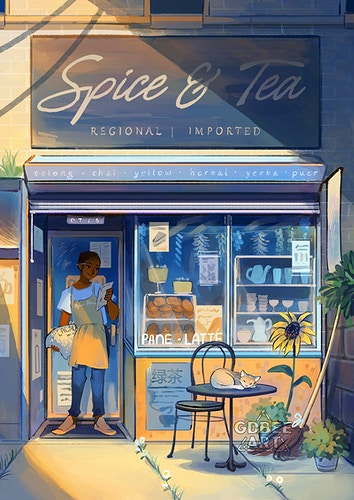 Spice and Tea Shop - GDBee ART