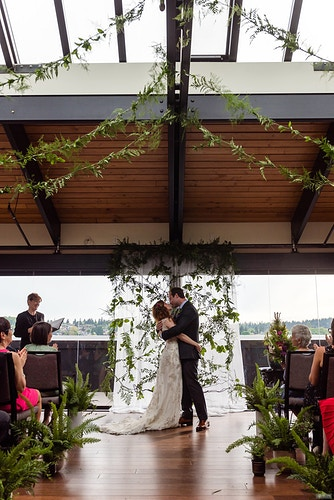 Emily And Peter Olympic Rooftop Pavilion - Ginger Bee Events & Planning | Seattle Wedding Planning & Design