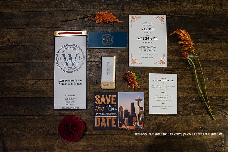 Vicki And Mike Axis Pioneer Square - Ginger Bee Events & Planning | Seattle Wedding Planning & Design