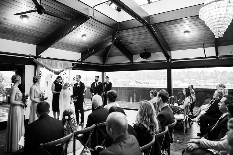 Travis And Chris Olympic Rooftop Pavilion - Ginger Bee Events & Planning | Seattle Wedding Planning & Design