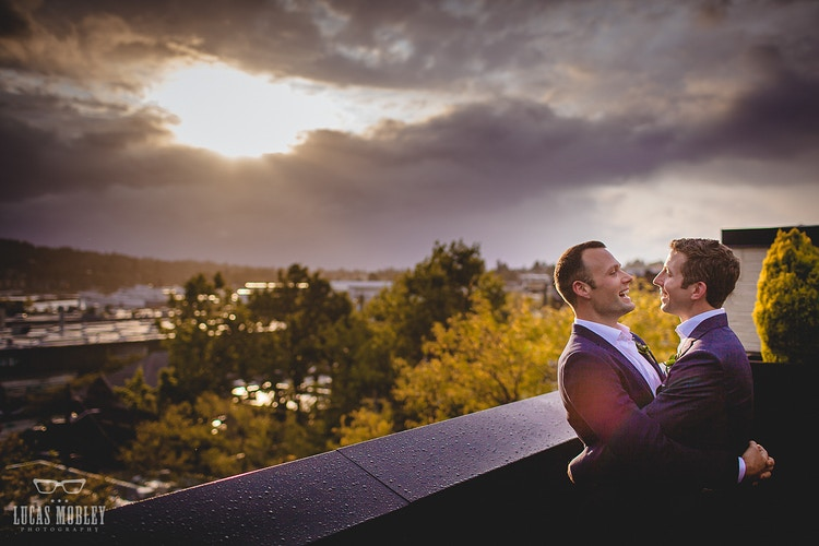 Jon And Paul Olympic Rooftop Pavilion - Ginger Bee Events & Planning | Seattle Wedding Planning & Design