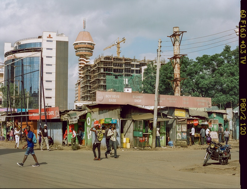 BOY VEVE BASE SYDNEY SHOP AND THE OLD  MARKET BEFORE DEMOLITION WESTLANDS NAIROBI 2017 - GRAHAM GUY BARRATT