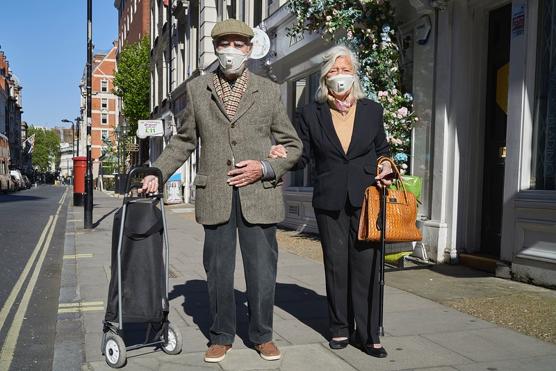 ALISTAIR & EDITH. LOOK AFTER YOUR LOVED ONES ABOVE ALL LOOK AFTER THE ELDERLY. GREAT RUSSELL STREET LONDON WEDNESDAY 08TH MAY 16.57 DURING THE GREAT GLOBAL PANDEMIC OF 2020 - GRAHAM GUY BARRATT