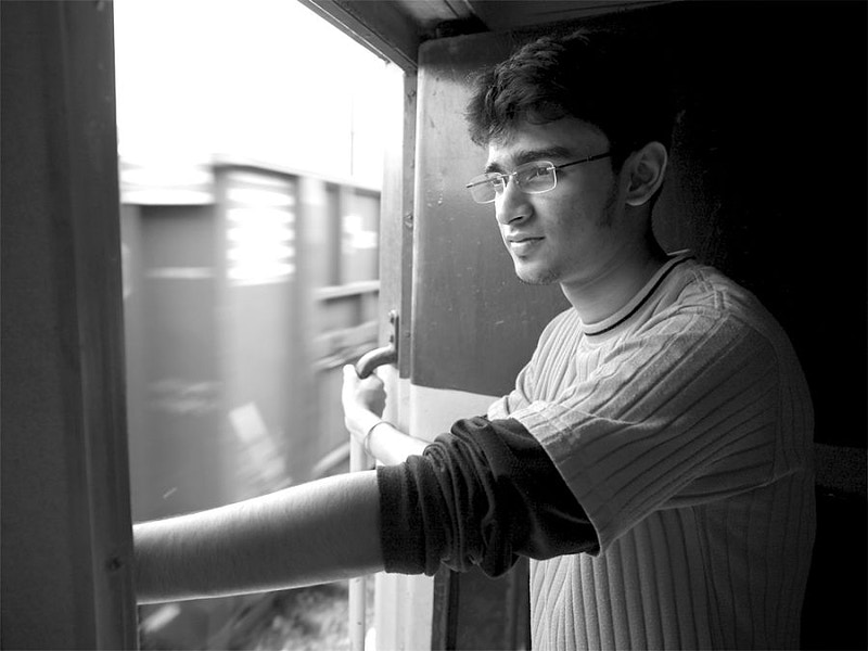 ADITYA – SOMEWHERE ABOUT AN HOUR FROM VARANASI ABOARD A VERY LATE 'MAGADH EXPRESS' TRAIN FROM DELHI - GRAHAM GUY BARRATT