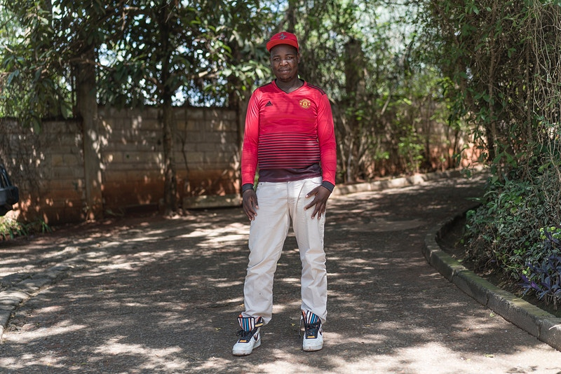 EDWIN NAIROBI'S No1 MAN UTD FAN. - GRAHAM GUY BARRATT