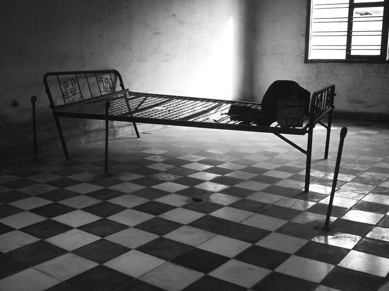 PRISON CELL WITH TORTURE BED TOUL SLENG AKA S21 - GRAHAM GUY BARRATT