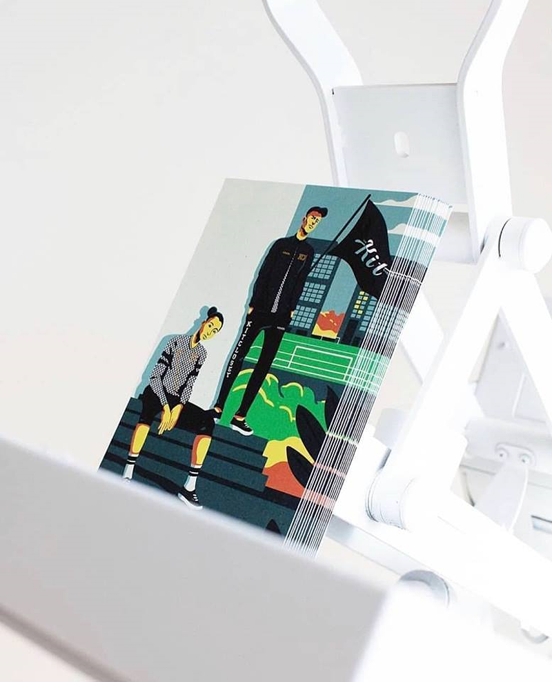 Fashion Illustration Inaria Soccer - GUNDERSONS™ - Design Studio / Poster Shop