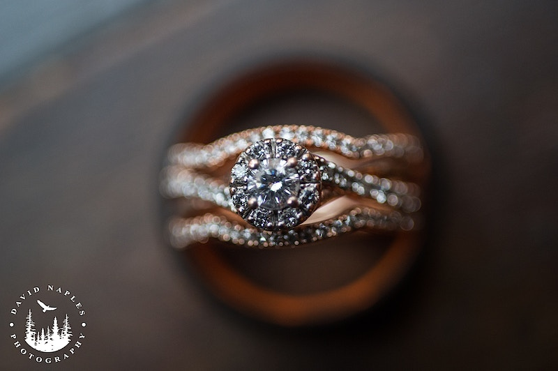 Engagement ring and wedding bands - David Naples Photography