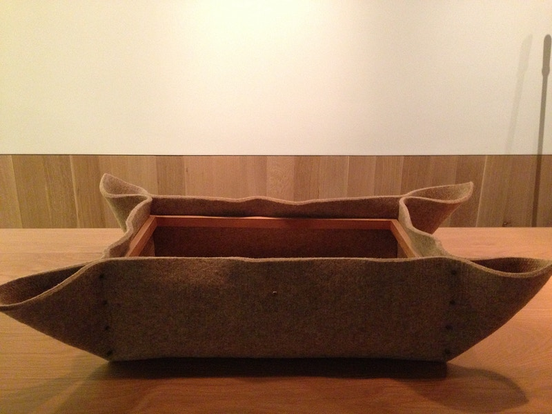 Felt Basket with Walnut Insert - h-filaments