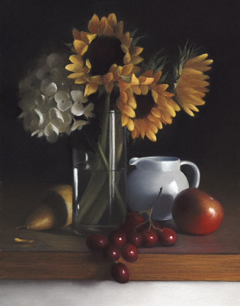 Sunflowers & Grapes - Hunter Gallery of Fine Art, Grafton, VT