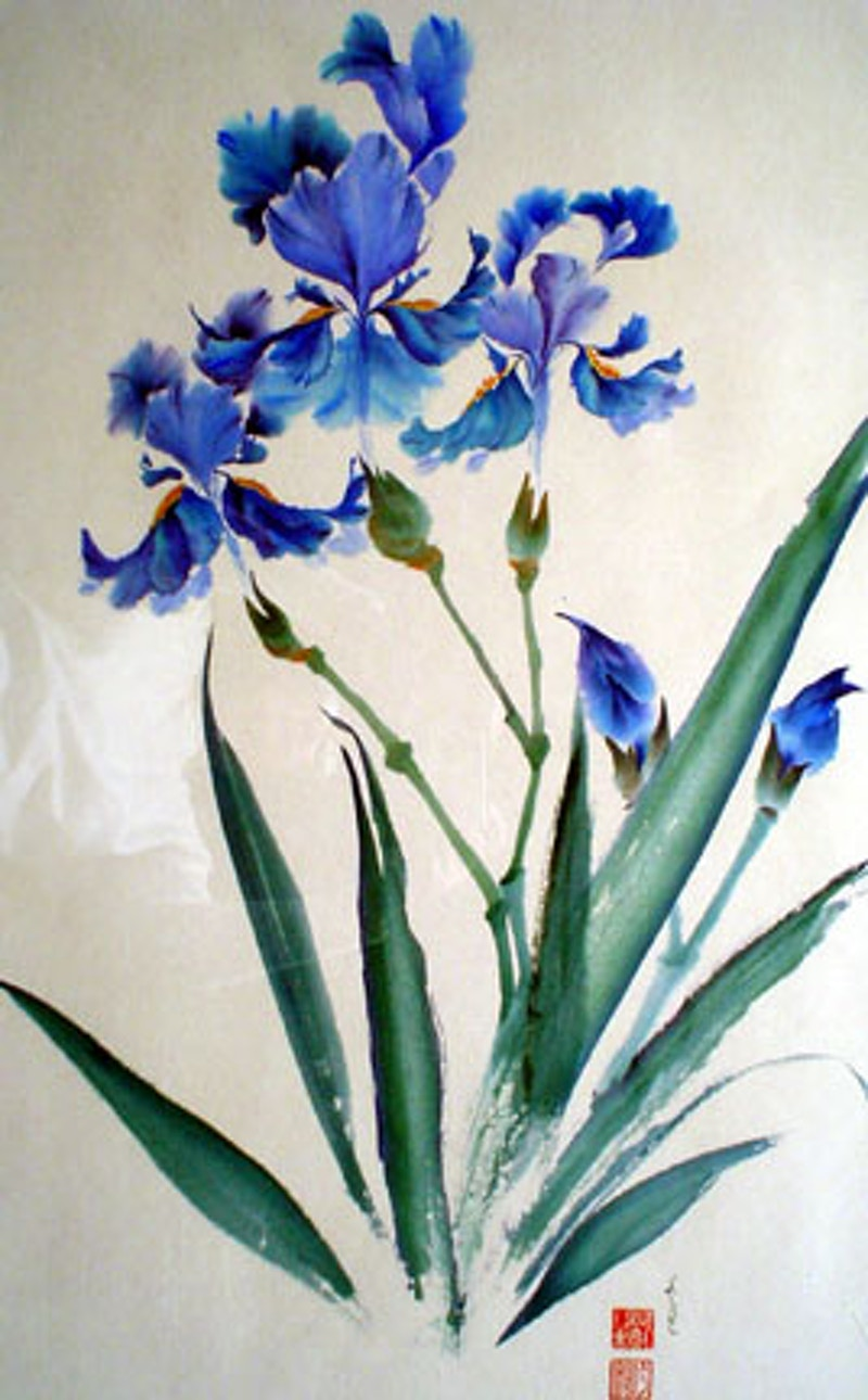 Kyoto Iris - Hunter Gallery of Fine Art, Grafton, VT