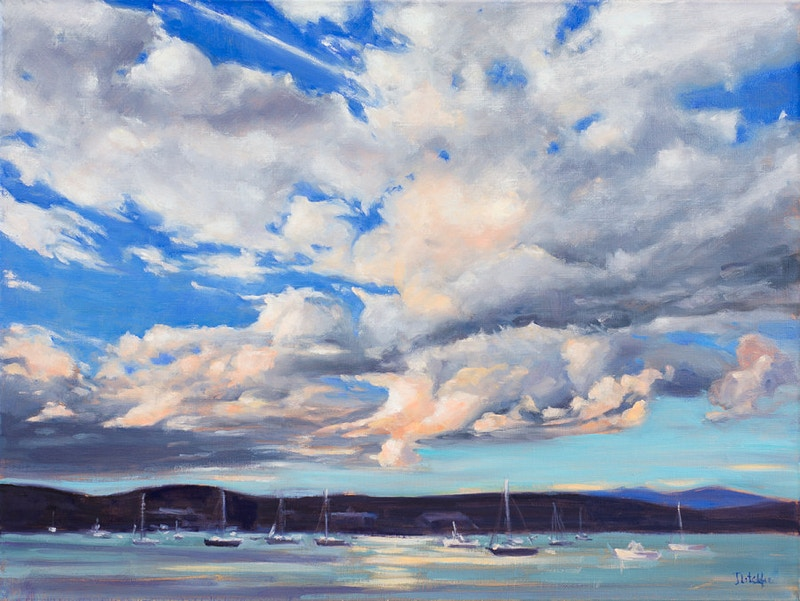 Clouds Over Rockland Harbor - Hunter Gallery of Fine Art, Grafton, VT