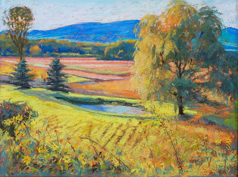 Fall Fields - Hunter Gallery of Fine Art, Grafton, VT