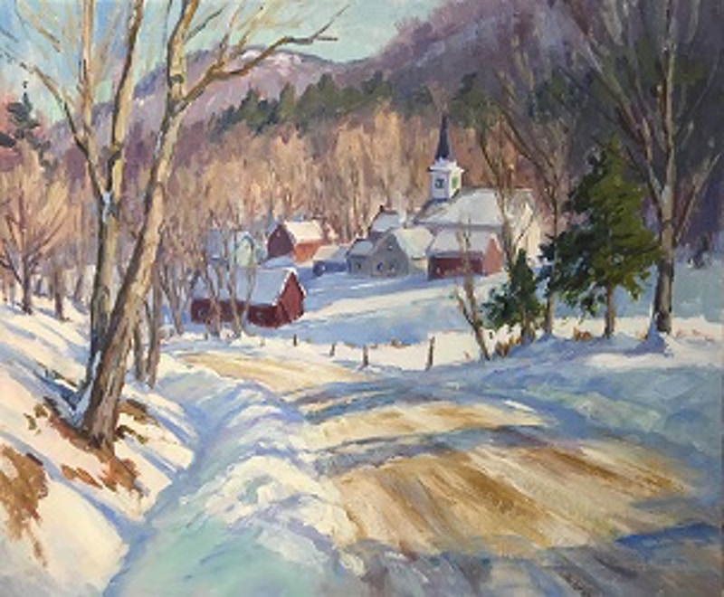 A Walk to the Village - Hunter Gallery of Fine Art, Grafton, VT