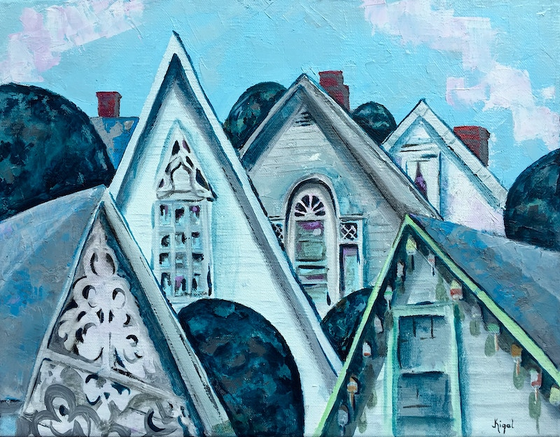Attic Windows from the Coast of Maine Friendship - Hunter Gallery of Fine Art, Grafton, VT
