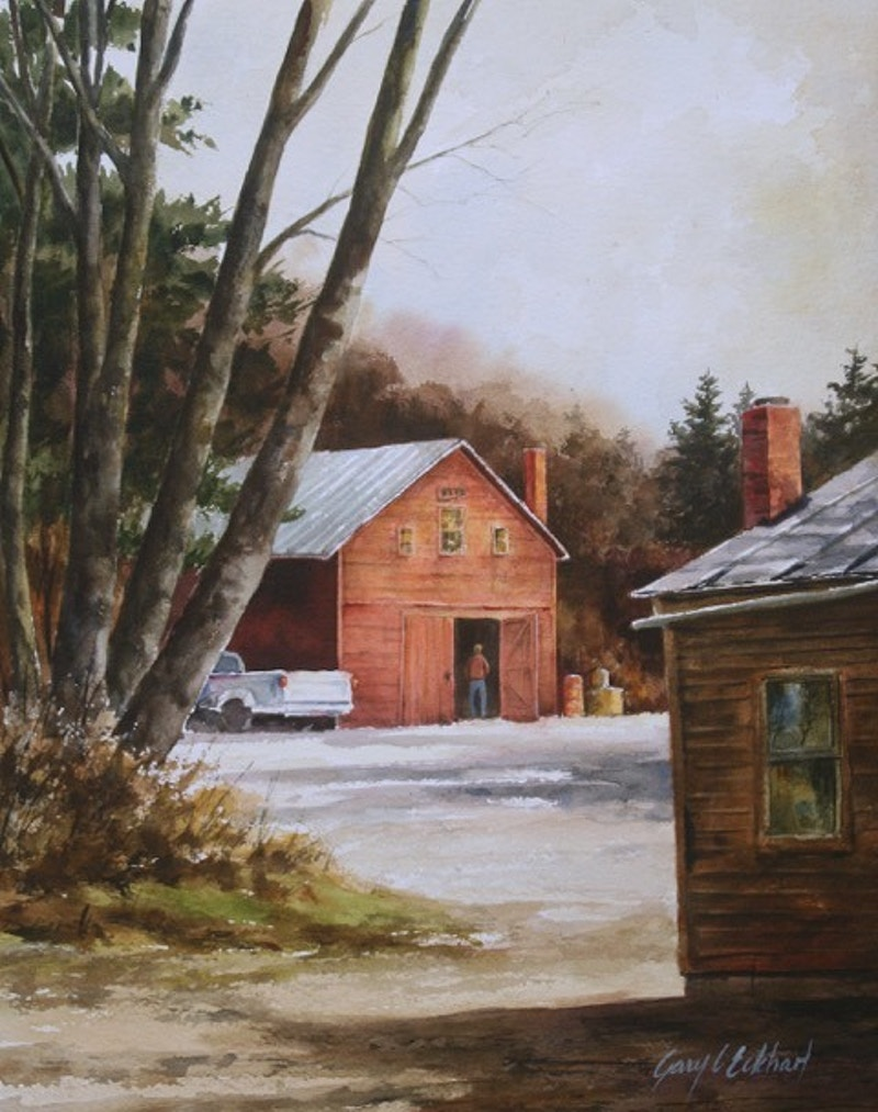 Day's Chores Done           SOLD - Hunter Gallery of Fine Art, Grafton, VT