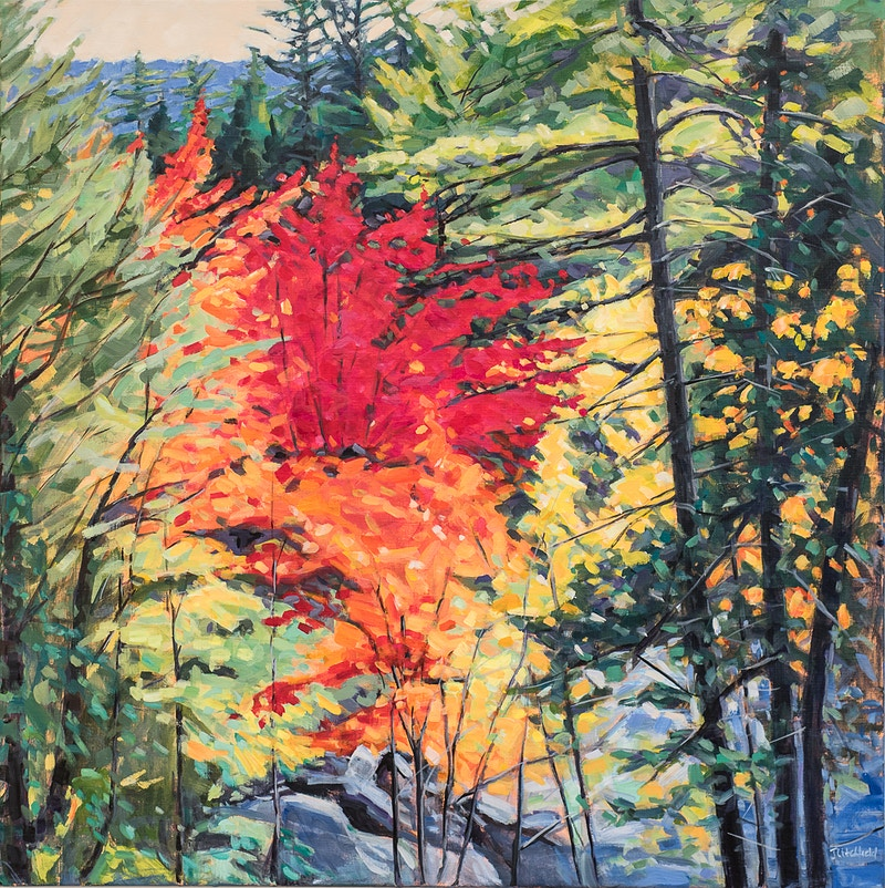 Deep Woods, Fall - Hunter Gallery of Fine Art, Grafton, VT