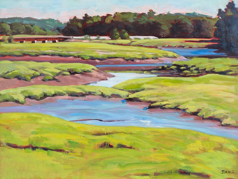 Great Salt Marsh - Hunter Gallery of Fine Art, Grafton, VT