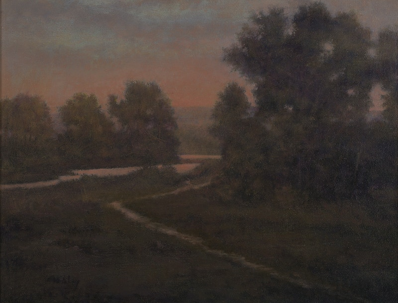 Dusk By the River - Hunter Gallery of Fine Art, Grafton, VT