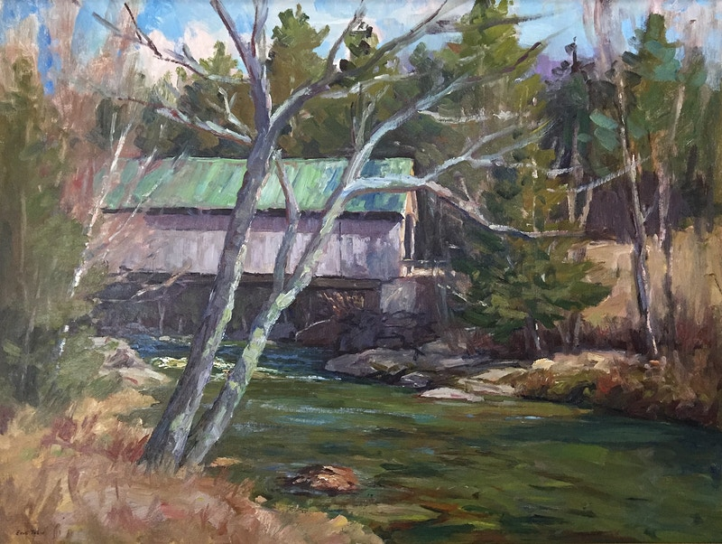 Lumber Mill Bridge - Hunter Gallery of Fine Art, Grafton, VT