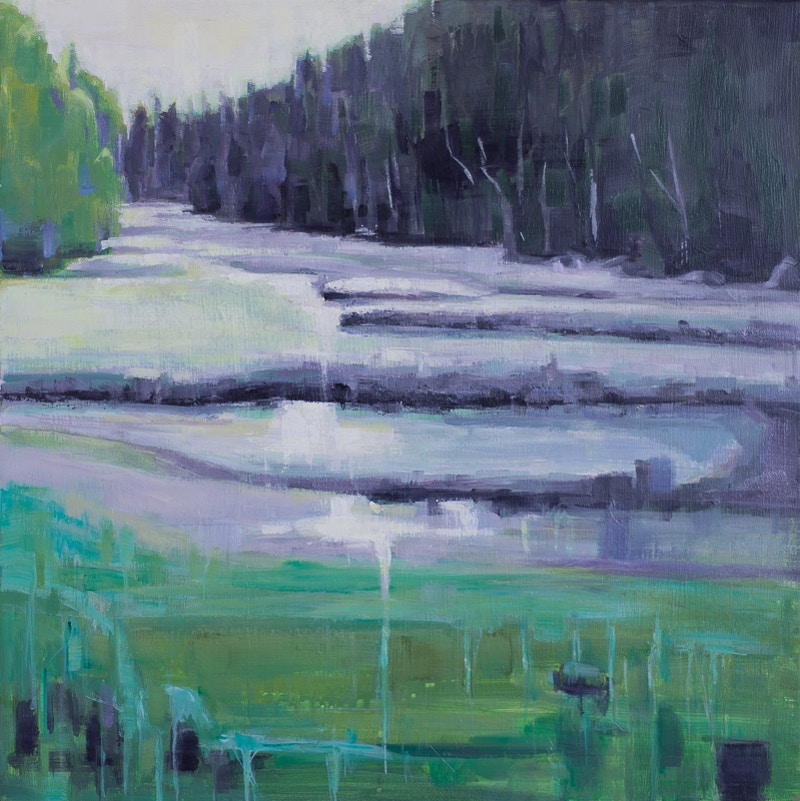 Silver Marsh                                               SOLD - Hunter Gallery of Fine Art, Grafton, VT