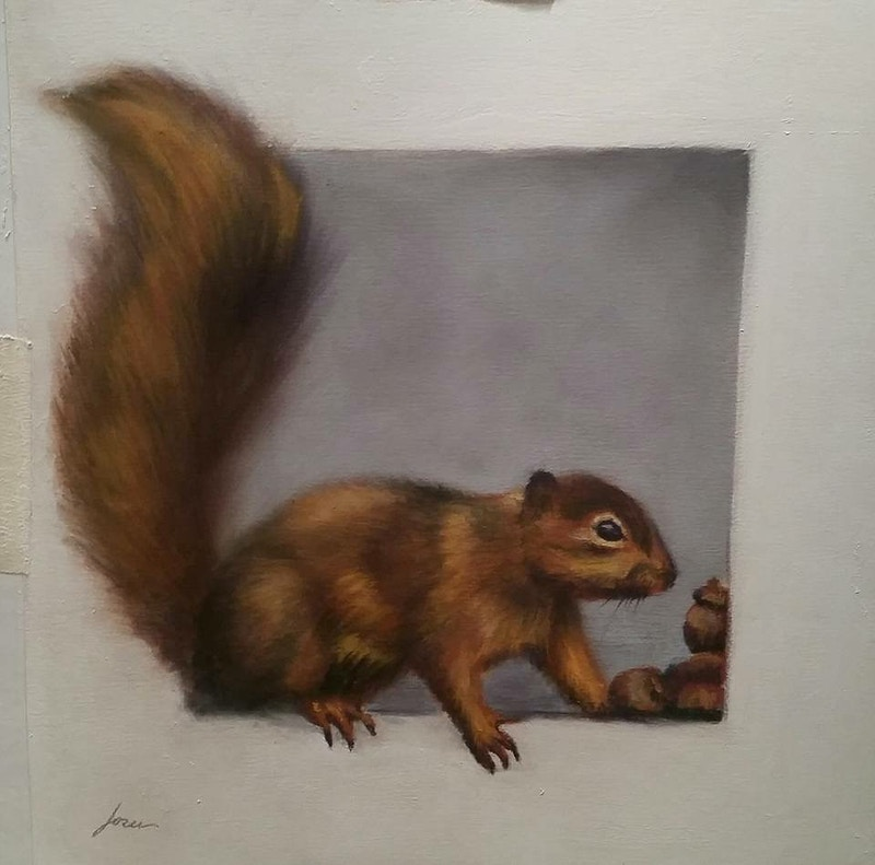 Squirrel - Hunter Gallery of Fine Art, Grafton, VT